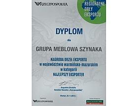 Grupa Meblowa Szynaka Regionalnym Orłem Eksportu