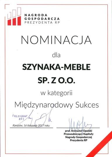 Nominacja do Nagrody Gospodarczej Prezydenta RP
