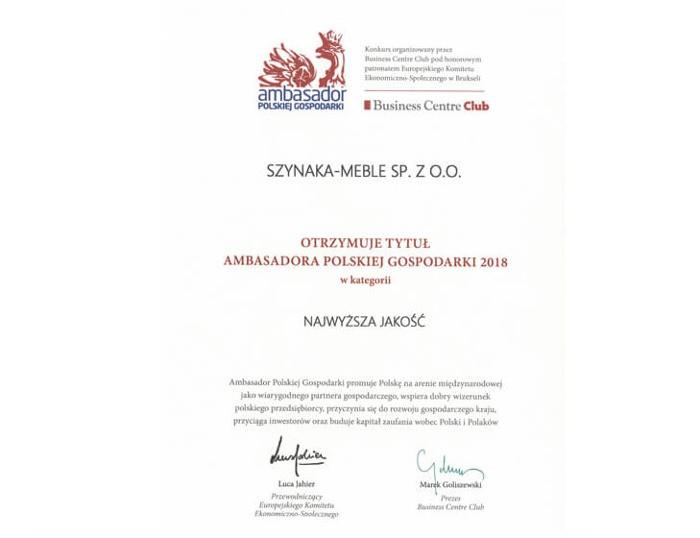 Ambasador Polskiej Gospodarki 2018